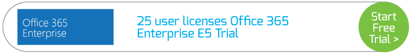 25 user licenses Office 365 Enterprise E5 Trial