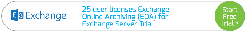 25 user licenses Exchange Online Archiving (EOA) for Exchange Server Trial