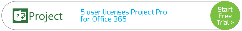 5 user licenses Project Pro for Office 365