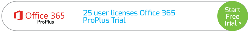 25 user licenses Office 365 ProPlus Trial